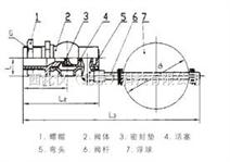 浮球阀 型号:H724X-4T(DN25)