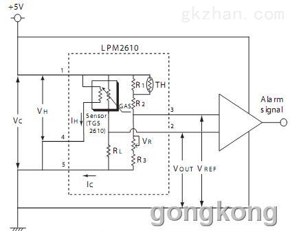 家用液化石油气泄漏检测 产品介绍:lpm2610装在低功耗传感器tgs2610
