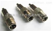 M12/M8全屏蔽防水连接器_针式直头4针4孔价格