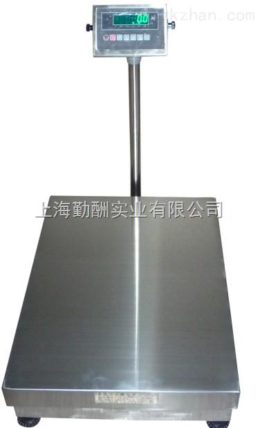 上海衡器厂专卖600*800电子台秤,600公斤防水型台秤