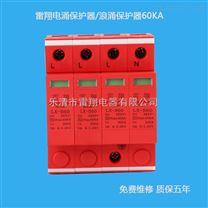 浙江60KA二级浪涌保护器雷翔防雷LX-B60电涌保护器