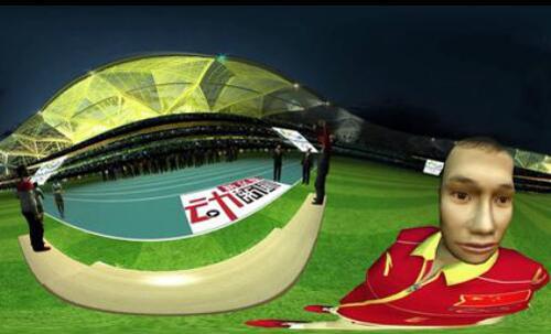 VR体验奥运冠军升国旗奏国歌幸福时刻